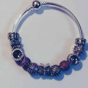 New purple and pink butterfly charm bracelet.